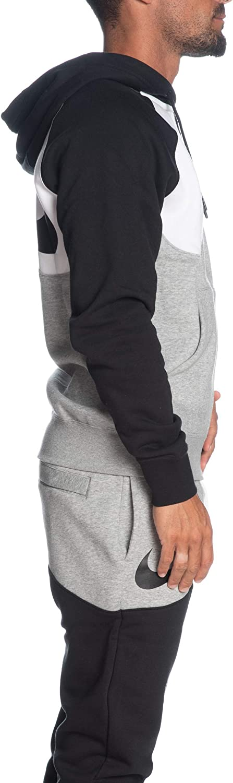 Nike Herren Sportswear Swoosh Sweatshirt blau/weiß (Game Royal/Deep Royal Blue/White)