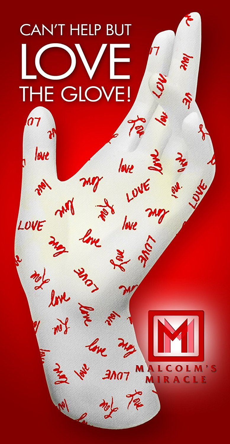 Malcolm's Miracle LOVE Moisturizing Gloves (Medium) - GUARANTEED for TWO YEARS - Made in the USA (Medium)