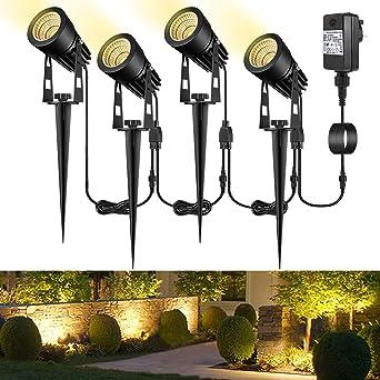 garden spotlights mains powered b