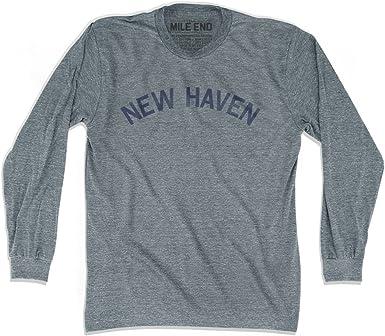 New Haven ciudad Vintage camiseta manga larga Gris Athletic Grey extra-large: Amazon.es: Ropa y accesorios