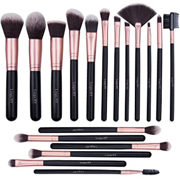 50797335935a Makeup Brushes 18 Pcs Makeup Brush Set Premium Synthetic Foundation Brush  Blending Face...