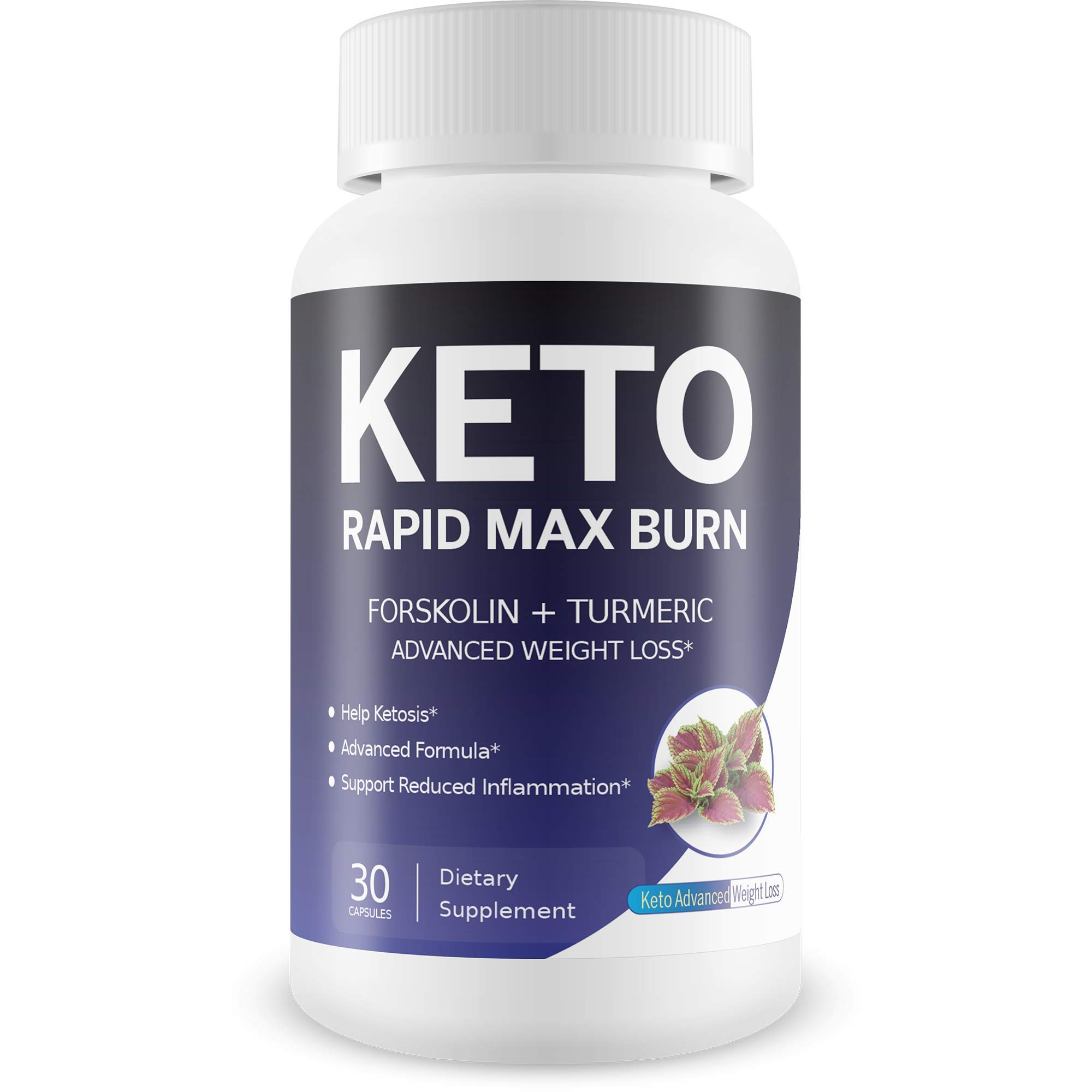 Keto Rapid Max Burn - Advanced Weight Loss - Forskolin Boosted with Turmeric for Extra Diet Power - Reduce Appetite - Release Fat Stores - Burn More Fat - Break Down Fat Faster - Block Fat Absorption by Keto Advanced Weight Loss