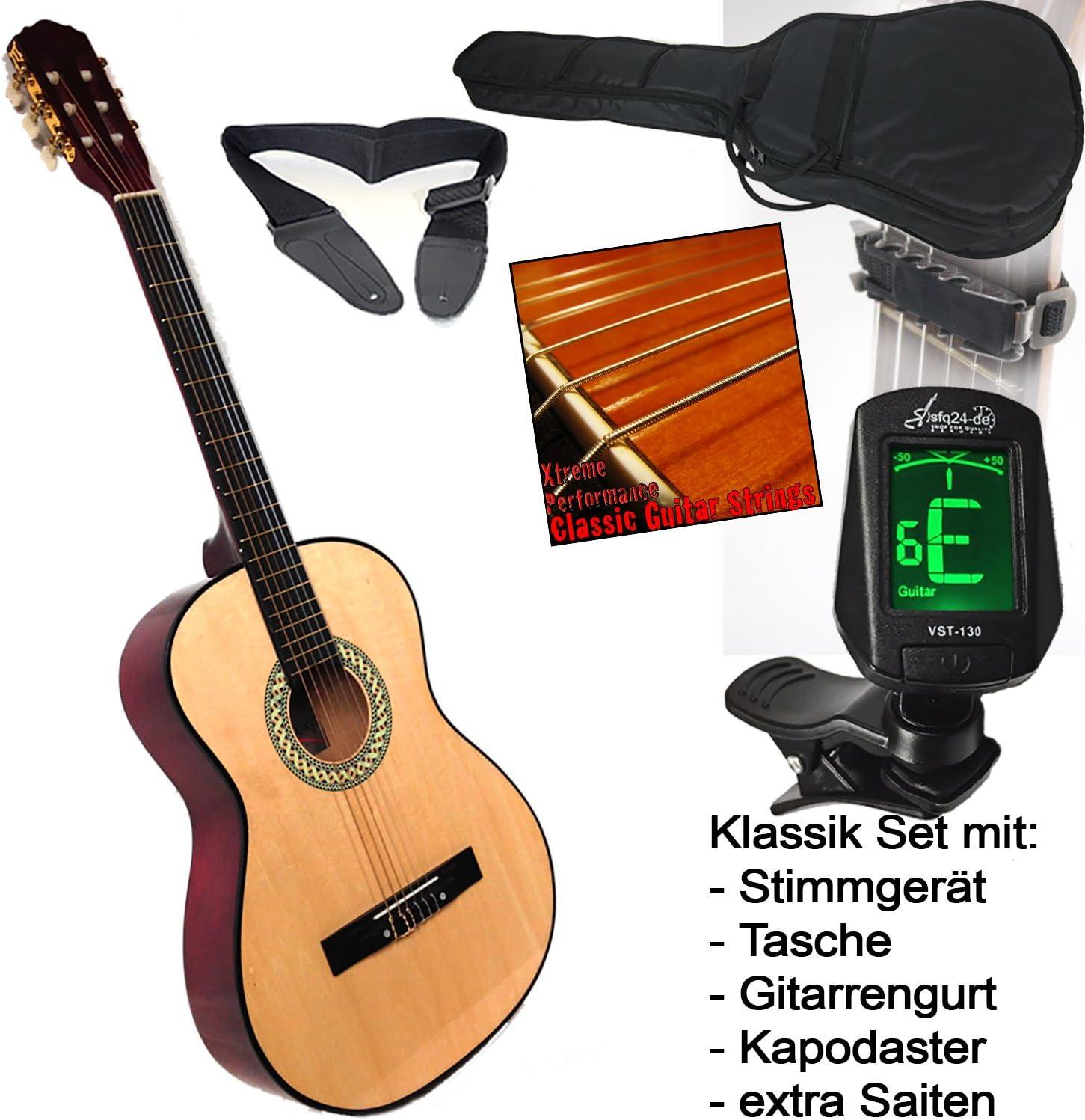 Student clásica guitarra de concierto en color natural con LED ...