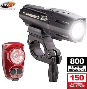 Cygolite Metro Plus 800 & Hotshot Pro 150 Bicycle Light Combo Set, Metro Plus 800 & Hotshot Pro 150 USB Rechargeable Bicycle Light Combo Set