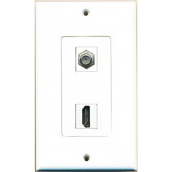 amazon com ge 87688 hdmi and coax cable wall plate home audio rh amazon com
