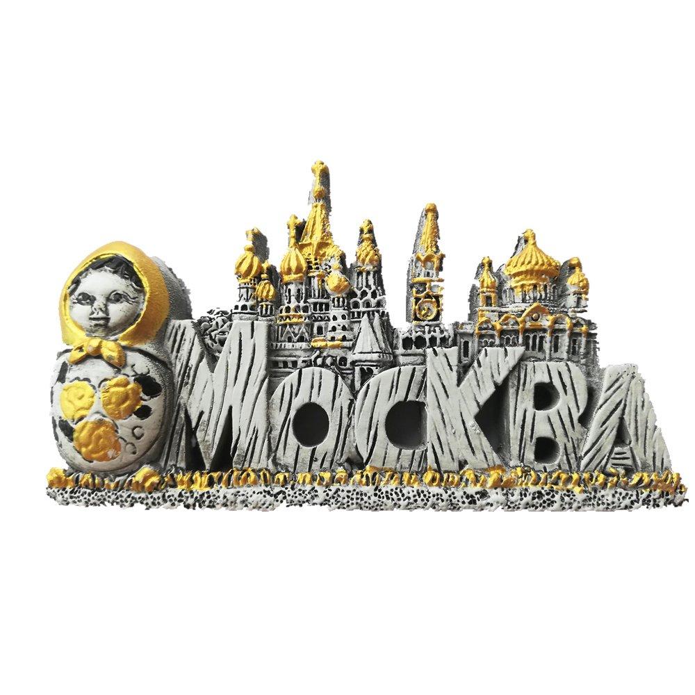 Imán para nevera de Moscú con diseño de Mockba en 3D, ideal para ...
