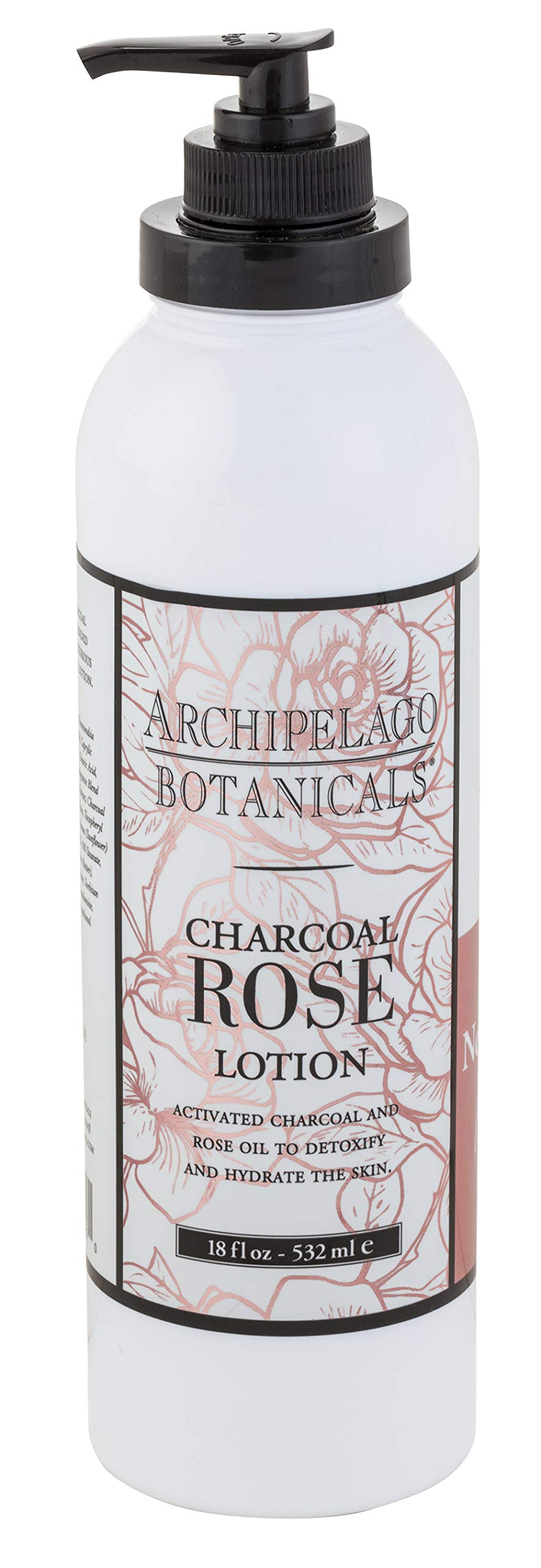 Archipelago Charcoal Rose Lotion, 18 Fl Oz by Archipelago Botanicals