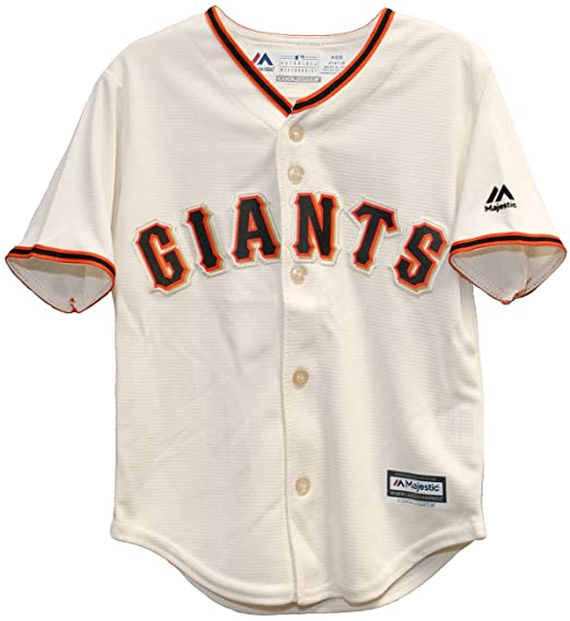 buy online da614 9b881 Majestic MLB San Francisco Giants Ivory Off White Baseball Jersey