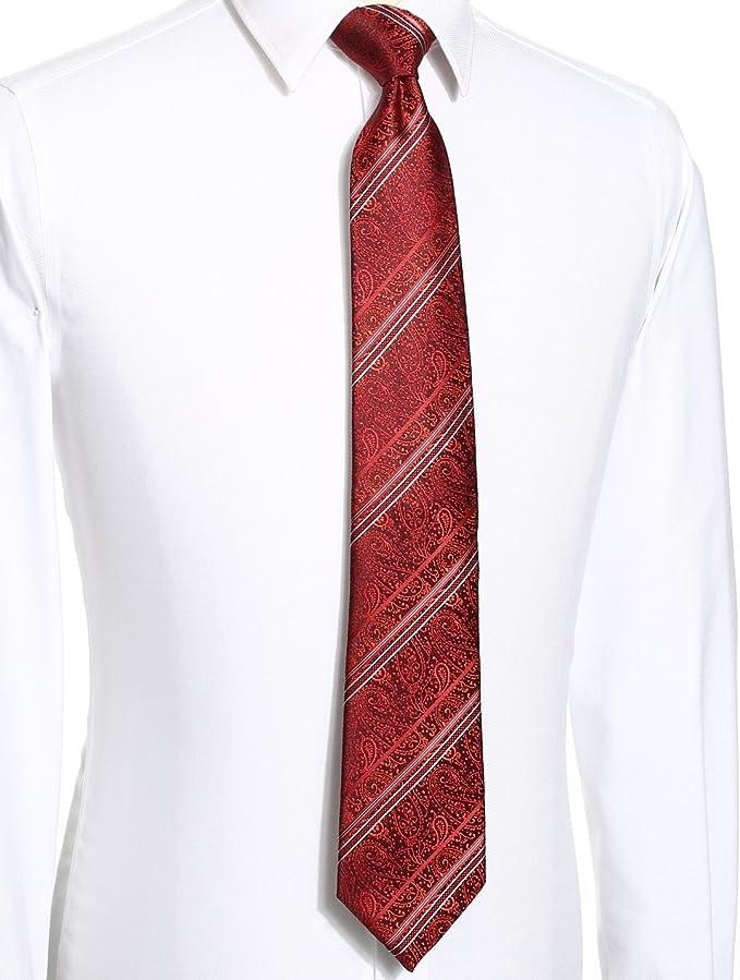KissTies para hombre Tie Set: Paisley corbata + caja de regalo ...