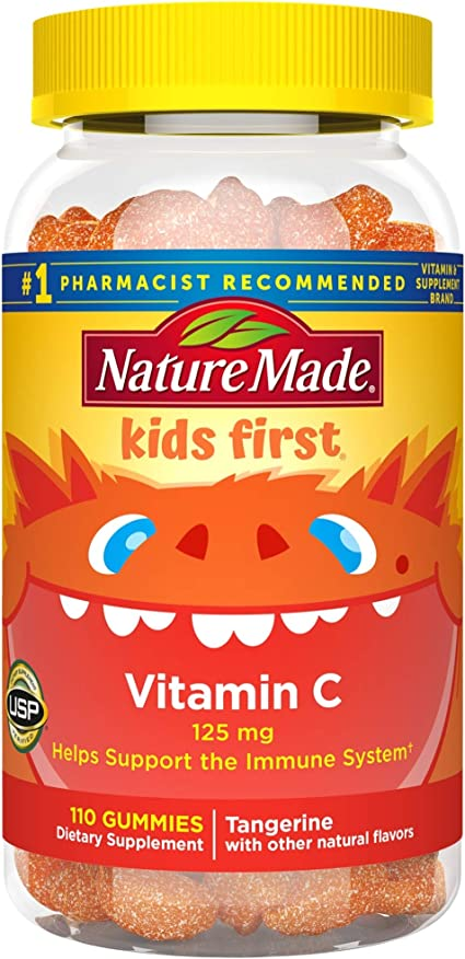 Amazon Com Nature Made Kids First Vitamin C Gummies 110 Count To Help Support The Immune System Packaging May Vary Health Personal Care