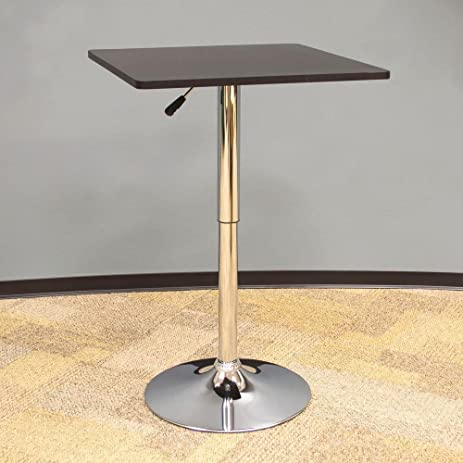 Amazon classic style 36 in l wood top square bistro table in l wood top square bistro table in black watchthetrailerfo