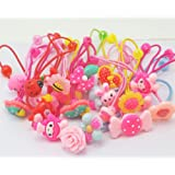 Cuhair(tm) 20pcs cute kid Girl baby Assorted Elastic Ponytail Holders Hair Tie Assorted Rope Rubber Bands Accessories Scrunchie