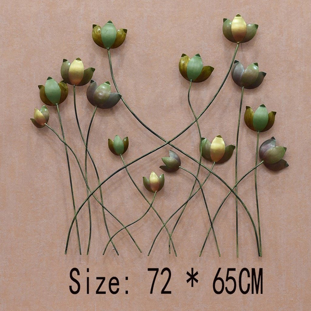 B PLDDY Crafts Iron Wall Hanging Creative Three-Dimensional Pendant Simple Living Room Hanging (color   B)