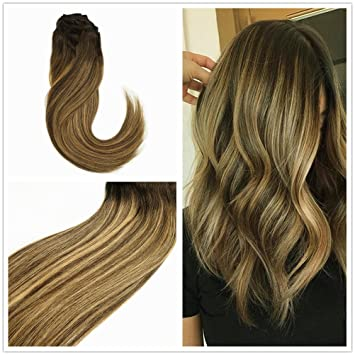 Amazon Com Alizee 16 Inch Short Tape In Hair Extensions Brunette