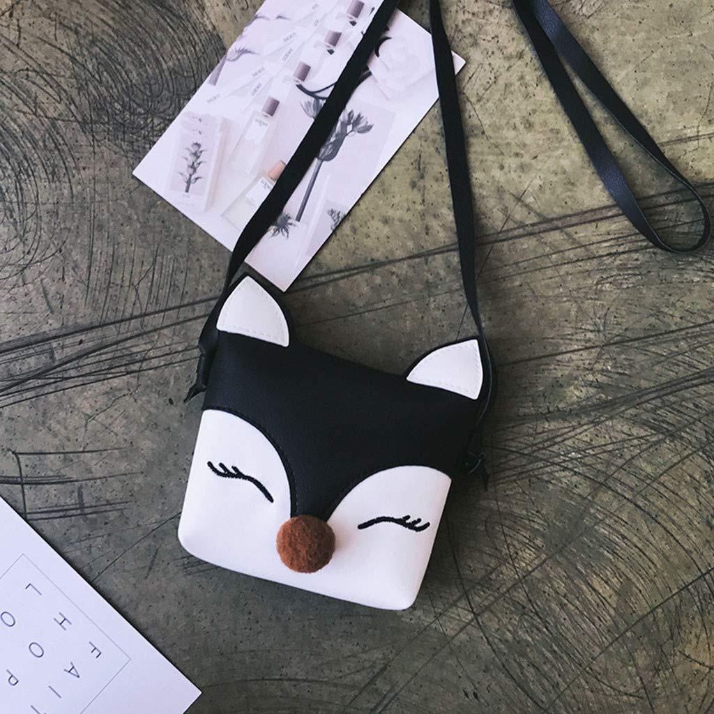 Bolsa Bandolera Mujer y Chica de PU Zorro animal de Dibujos Animados Monedero Estilo Simple Bolsos Totes de Viaje Bolso Hombro Lindo de Se/ñora y Chicas Bolso de Mano para Mujer de Viaje y Trabajo