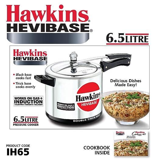 3e3ec71a1 Hawkins Aluminum Pressure Cooker 6.5 Liter - Silver (HWN_IQ74_BLK):  Amazon.ae