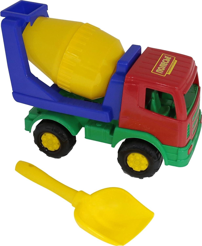 Polesie 9103 187: Mirage Concrete Delivery Truck Shovel No.5-Set with Vehicles, Multi Colour PP POLESIE JV LTD. Polesie_9103