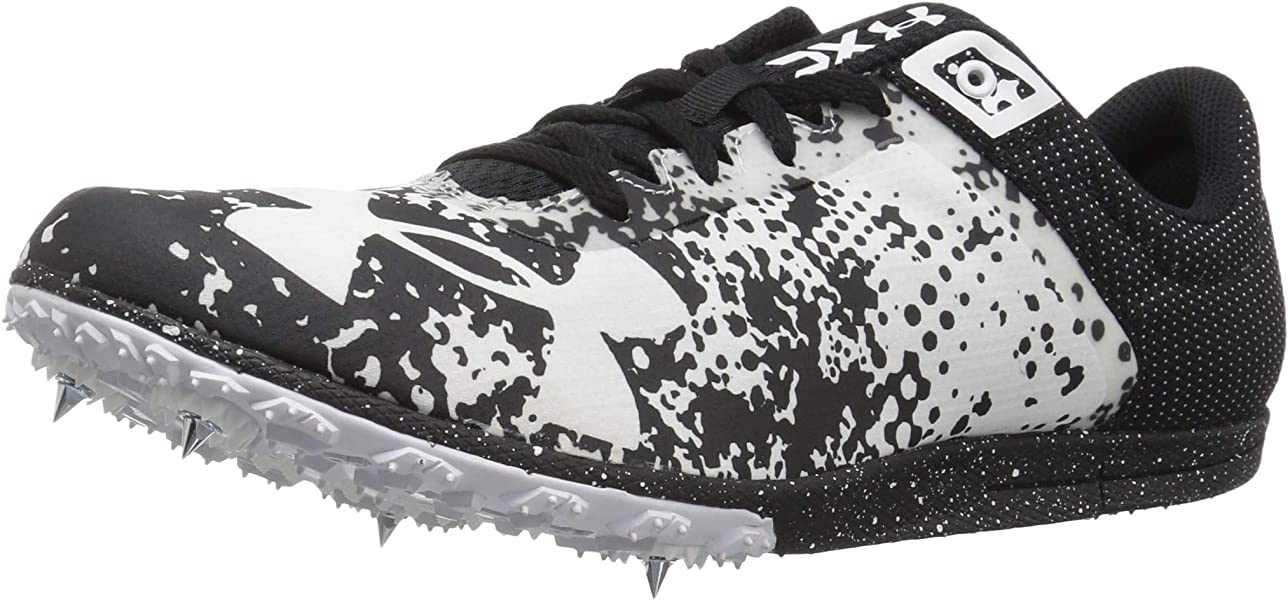 Under Armour XC Brigade Spike Athletic Shoe Black (001)/White 7
