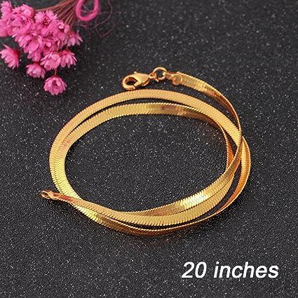 Xiaojing - Collar de oro con eslabones cubanos de lujo para mujer ...