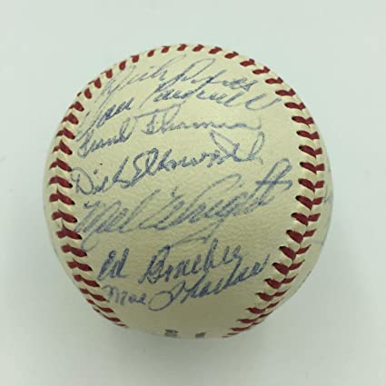 c1046382ac0 Image Unavailable. Image not available for. Color  Nice 1960 Chicago Cubs  Team Signed Baseball Ernie Banks ...