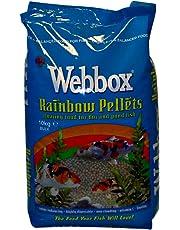 Webbox Complete Rainbow Mixed Pond Pellets Fish Food, 10 kg