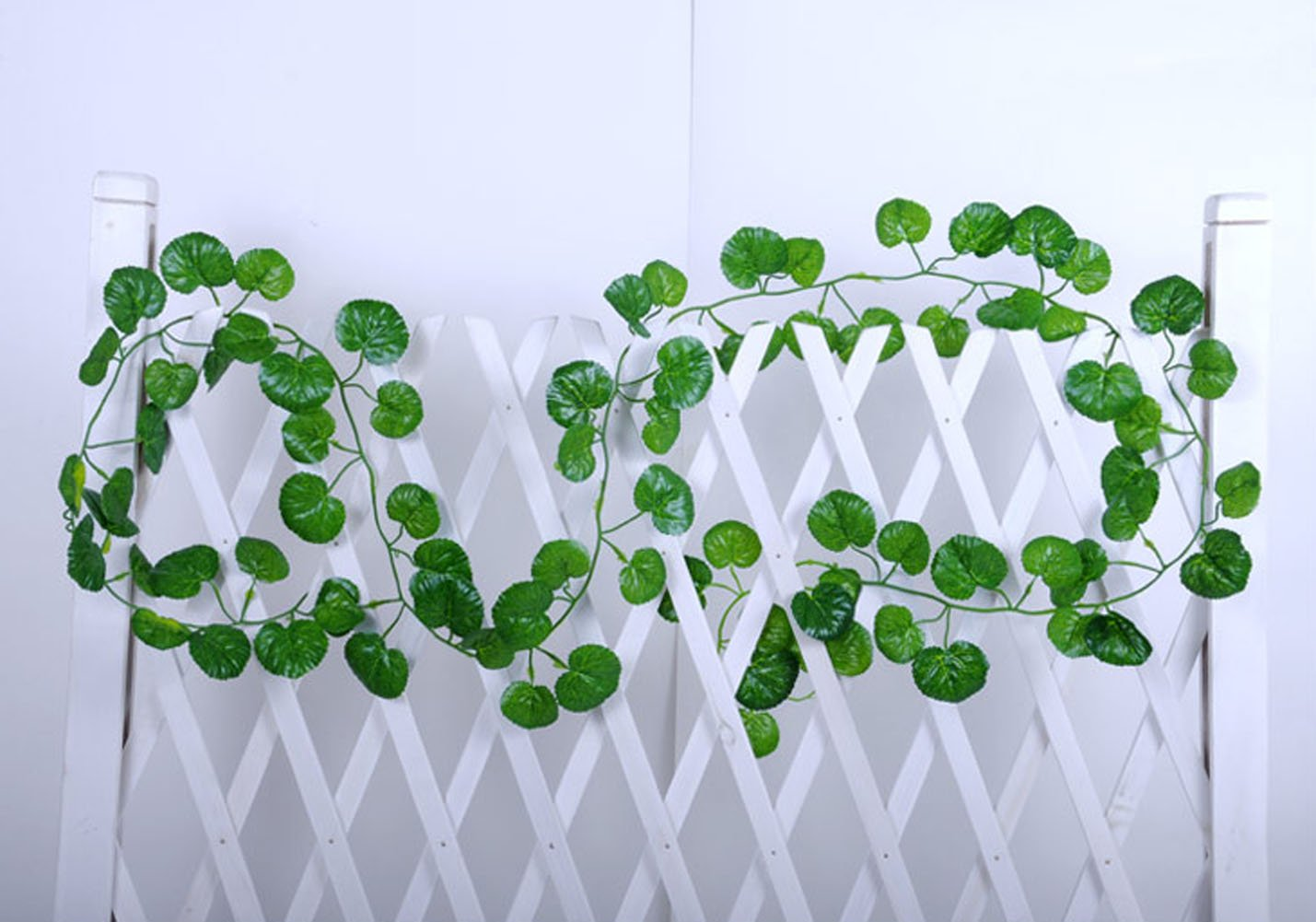 Hapwedding 94 Ft Artificial Ivy for Party,Wedding and Festival Decoration Malus Spectabilis Leaves,12PCS