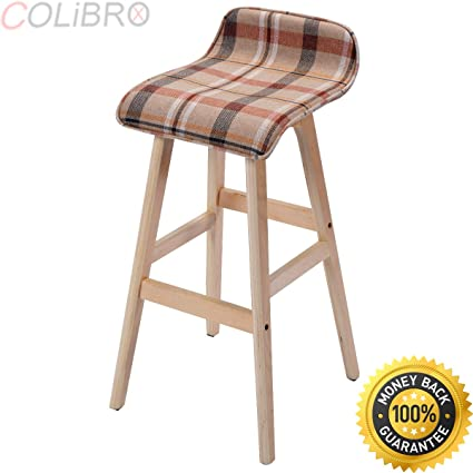 Stupendous Amazon Com Colibrox Set Of 2 29 Inch Vintage Wood Bar Stool Forskolin Free Trial Chair Design Images Forskolin Free Trialorg