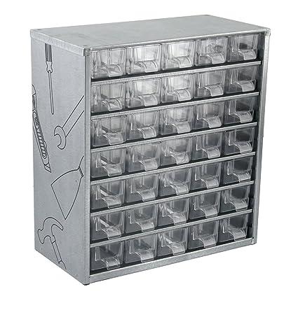 Cogex 405320 - Cajonera de herramientas (metal, 35 cajones ...