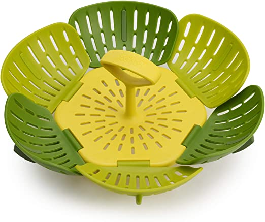 Joseph Joseph Lotus Steamer Basket Steam Food Vegetable Folding NonScratch Green