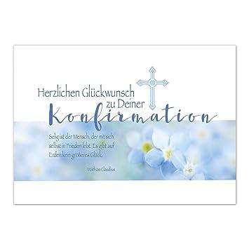 Glückwunschkarte Konfirmation Mit Umschlag Modern Für