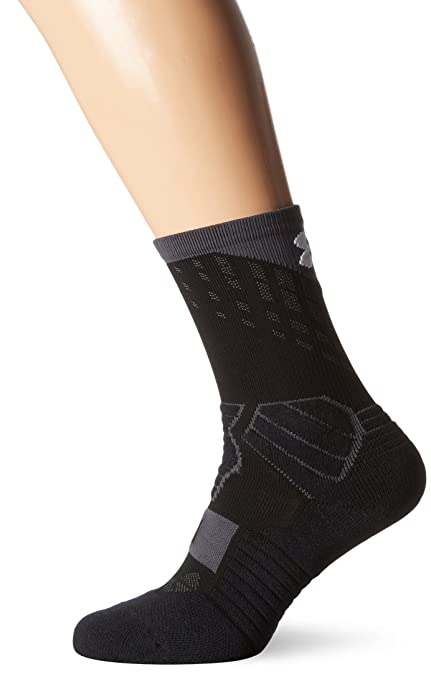 Under Armour UA Drive Basketball Crew Calcetines, Hombre, Negro, M