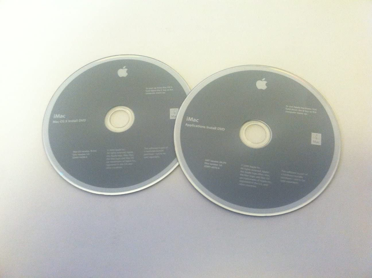Apple iMac OS X Install DVDs 10.5.6 2009 Recovery Discs