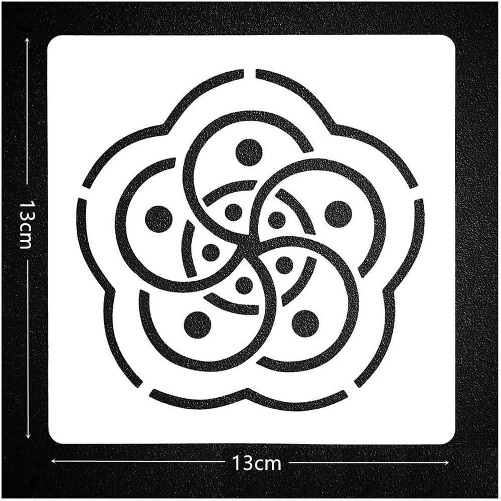 12x 13*13cm Pintura plantilla plantillas álbumes de recortes artesanía mandala Auxiliar Nuevo