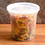 Pack of 10 Plastic Deli Container / 24 oz DELItainer