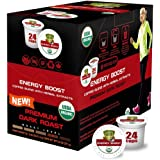 SOLLO Energy Boost Infused Dark Roast Coffee Brew Single Serve Pods With Superfoods, 2X Organic Natural Caffeine, Intense Ene