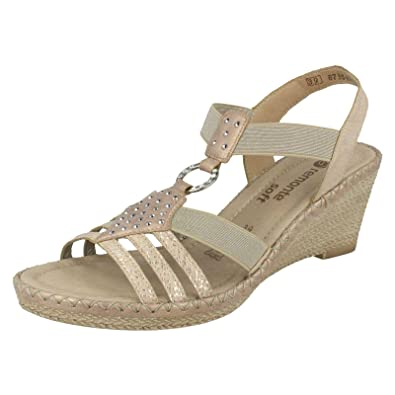 0cc8bde7 Remonte Slip On Elasticated Wedge Sandals D6768-31: Amazon.co.uk ...
