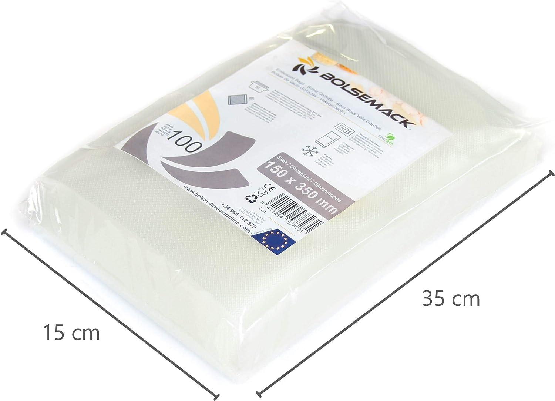 Bolsa gofrada envasado al vacío 15x35 cm (100 Unidades): Amazon.es ...