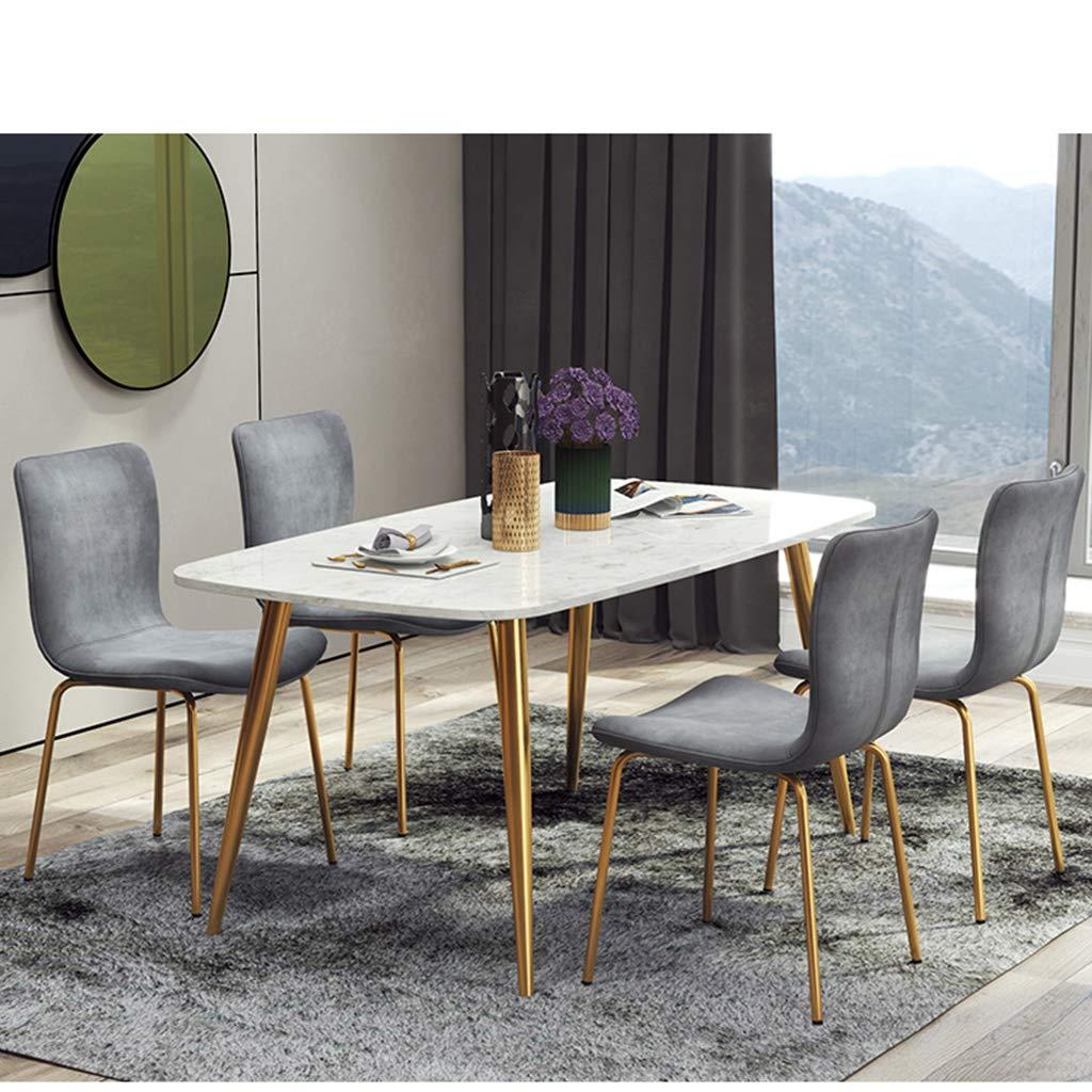 HEJINXL Matstol, köksstol modern minimalistisk terrass bomull ryggstöd järn halkfri fot hörnstol lämplig för att lära sig datorstolar kontorsstol (färg: C) D