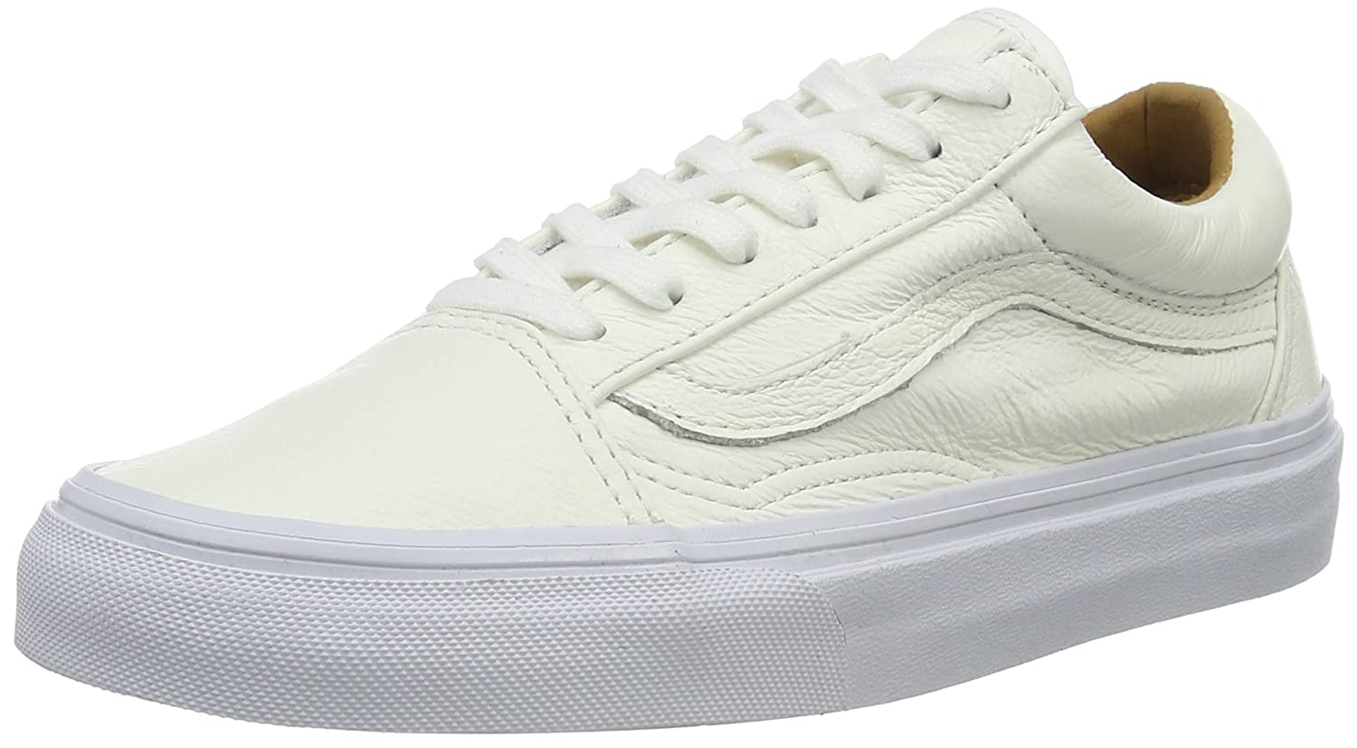 8360a4d35ef Vans Unisex Old Skool Lace-Up Sneakers Off White (Premium Leather) 8 UK   Buy Online at Low Prices in India - Amazon.in