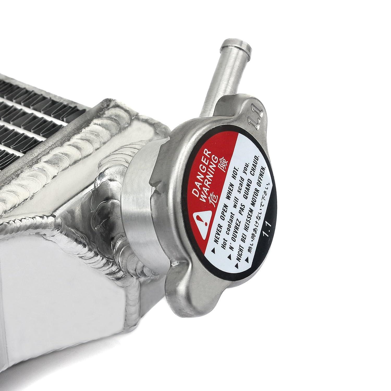 TARAZON Moto Aluminium Refroidisseur deau radiateur pour EXC 500 EXC-F 250 350 XCF-W 250 350 XC-W 450 500 2012-2016