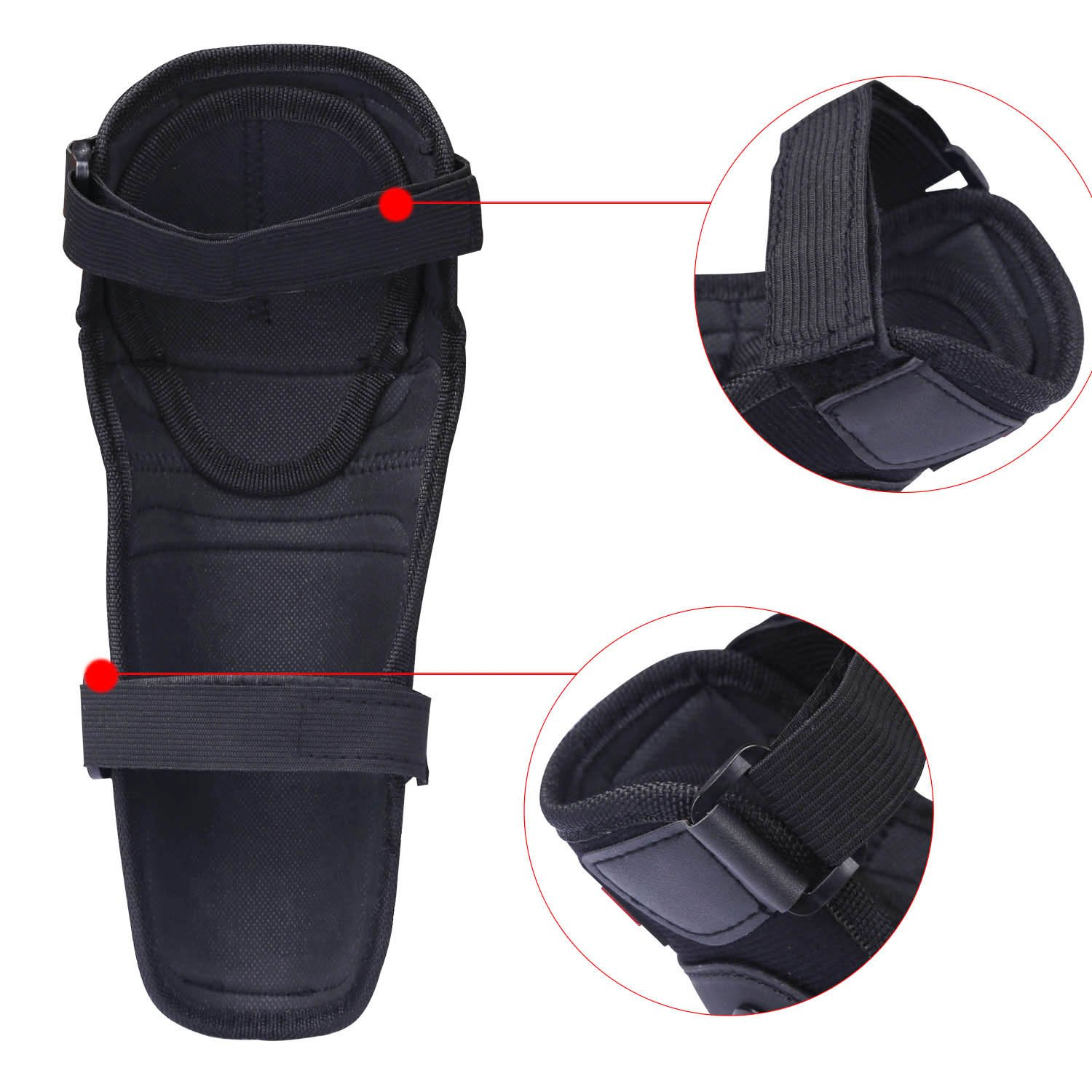 Tera 4PCs Elbow Knee Shin Armor Protect Guard Pads for Motorcycle