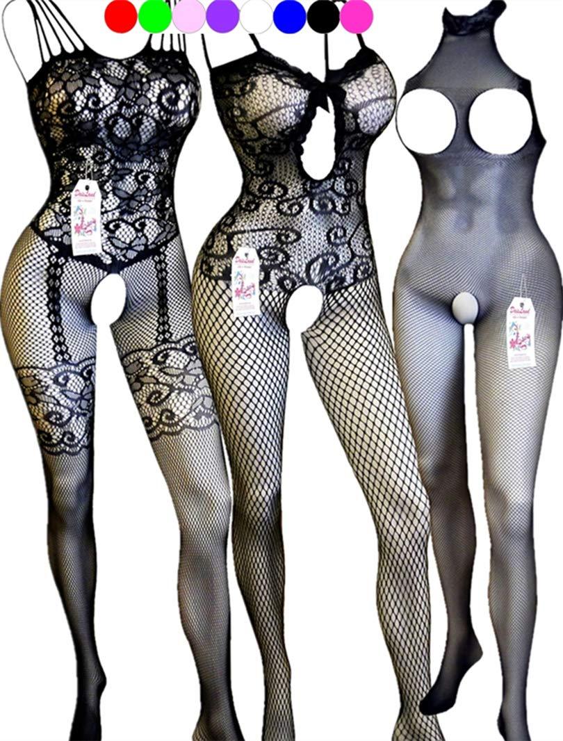 Daisland 3 Women Lingerie Sleepwear Teddy Bodystocking Bodysuit Floral Babydoll