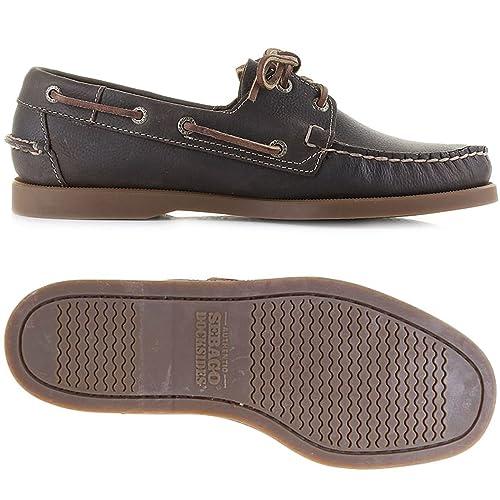 Sebago - Mocasines para Hombre Marrón Brown Olive W9,5 Marrón Size: W10: Amazon.es: Zapatos y complementos