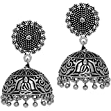 Jaipur Mart Jhumki Earrings for Women (Silver)(GSE352SLV)