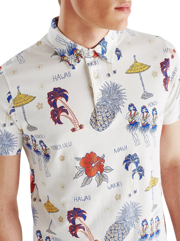 JACK JONES - Men's short sleeve polo shirt search m cream