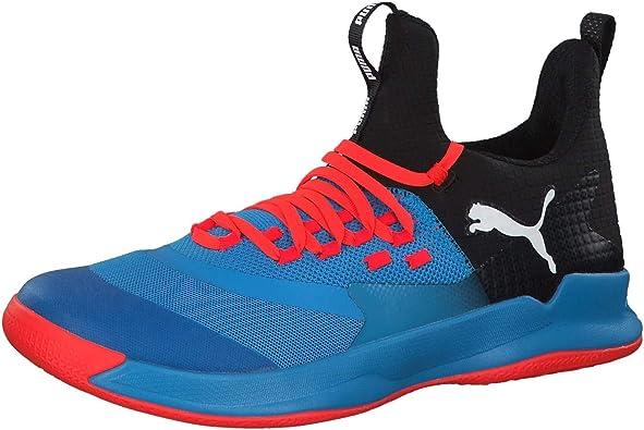 basket bleue puma handball personnalise