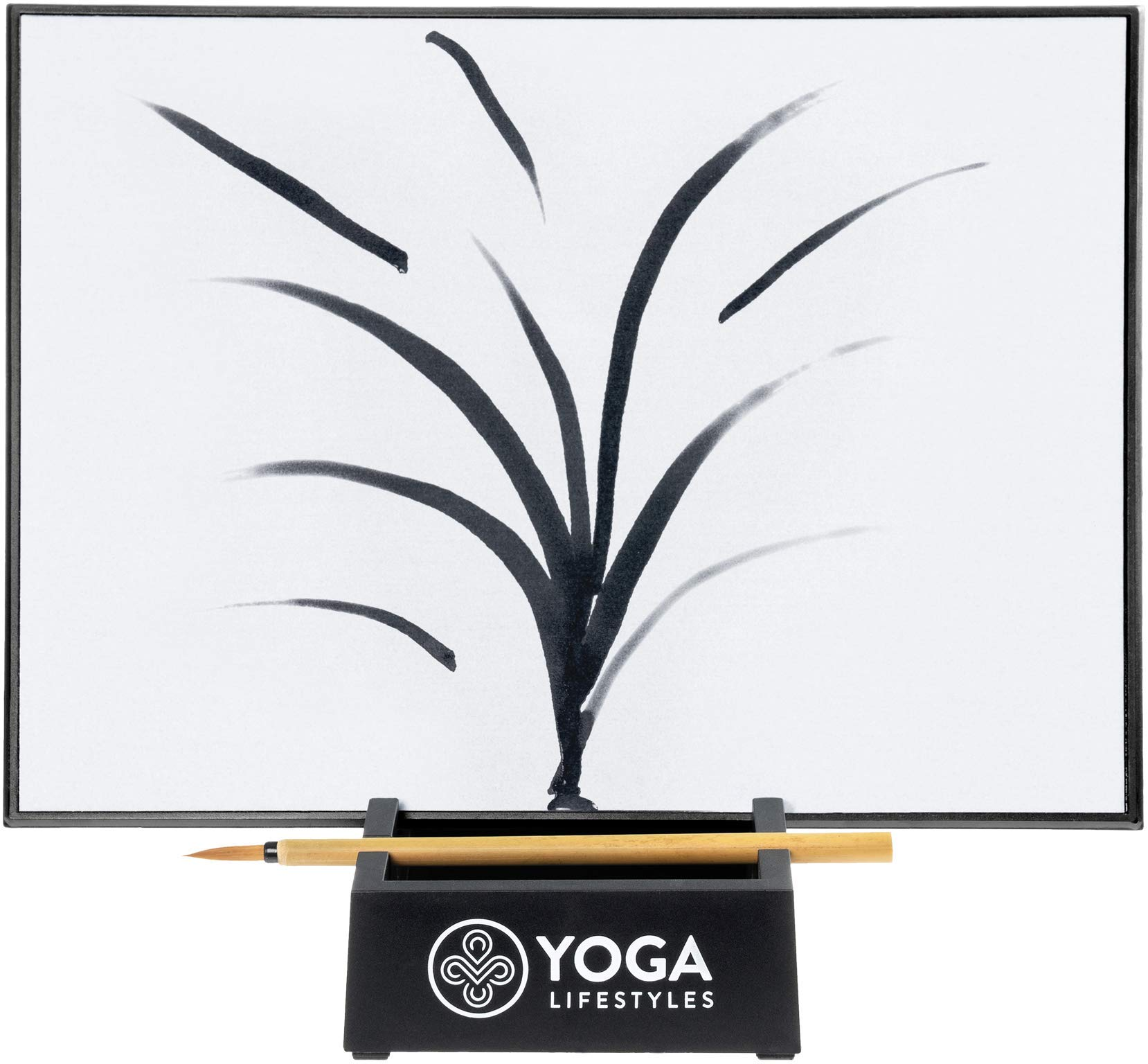 Yoga Lifestyles Zen Buddha Water Canvas Board for Stress Relief - with Stand and Bamboo Brush - Inkless, Disappearing Art - Art Board for Meditation, Relaxation by Yoga Lifestyles