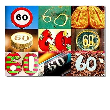 DigitalOase Glückwunschkarte 60. Geburtstag Jubiläumskarte 60