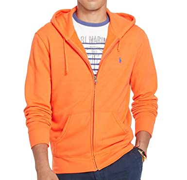 Polo Ralph Lauren Men's French Terry Full Zip Up Hoodie Jacket (X-Small,