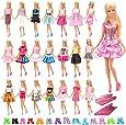 Barwa 60 PCS Items for 11.5 Inch 28 - 30 cm Dolls: 20 Clothes Dresses Outfits + 20 PCS Shoes + 20 Hangers